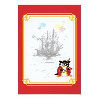Penguin Pirate RSVP Card