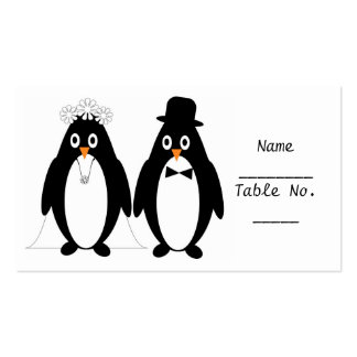 Penguin Place Setting Card Business Card