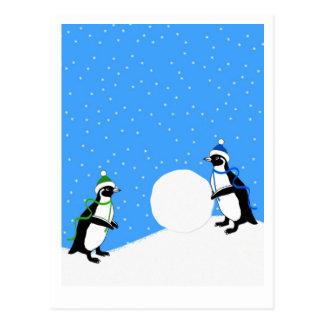 Penguin Play Postcard
