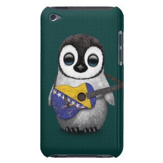 Penguin Playing Bosnia-Herzegovina Flag Guitar Tea iPod Touch Cover