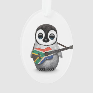 Penguin Playing South African Flag Guitar