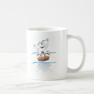 Penguin Polar Bear Snow Coffee Mug