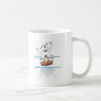 Penguin Polar Bear Snow Classic White Coffee Mug