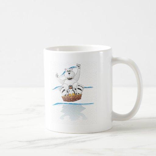 Penguin Polar Bear Snow Mugs