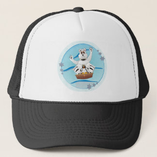 Penguin Polar BearSledding Down Hill Trucker Hat