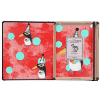 Penguin Polka Dots iPad Cover