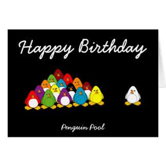 Penguin Pool Greeting Card