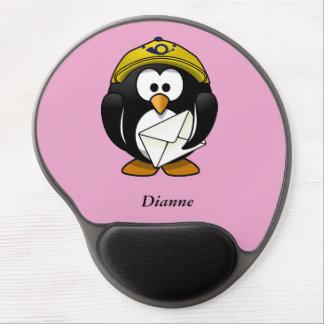 Penguin Postman Pink Gel Mousepad