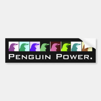 Penguin Power Bumper sticker