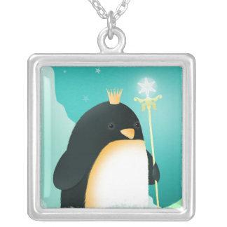 Penguin Power - silver necklace