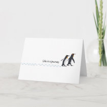 Penguin Prints Birthday Card