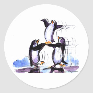 penguin prymid stickers