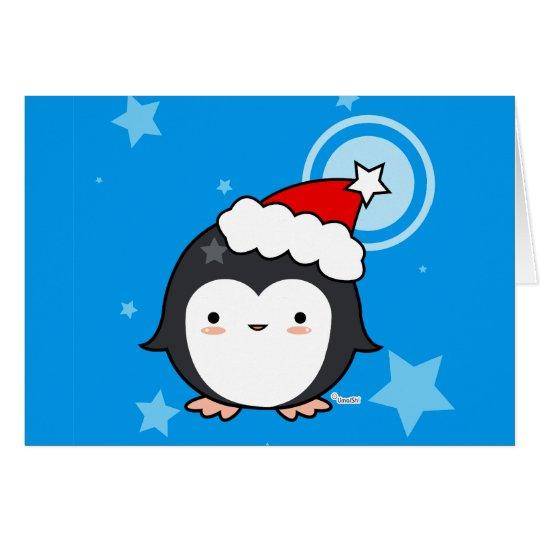 Penguin Puff Christmas Card