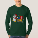 Penguin Pulling Sled with Christmas Presents T-Shirt