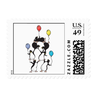 penguin pyramid postage