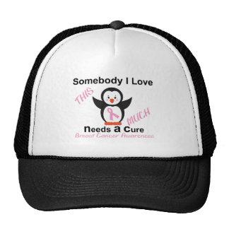 Penguin Raising Breast Cancer Awareness Trucker Hat
