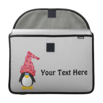 Penguin Red (Customizable) Sleeve For MacBook Pro