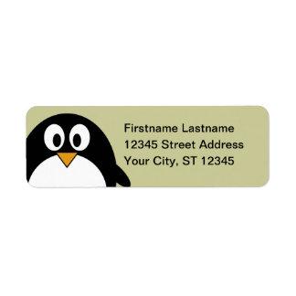 Penguin Return Address Custom Return Address Label