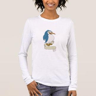 Penguin Ribbon Scroll Cartoon Long Sleeve T-Shirt