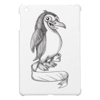 Penguin Ribbon Side Tattoo iPad Mini Cases