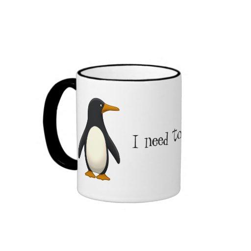 Penguin Ringer Coffee Mug