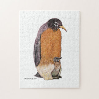 Penguin Robin with Chick Puzzle