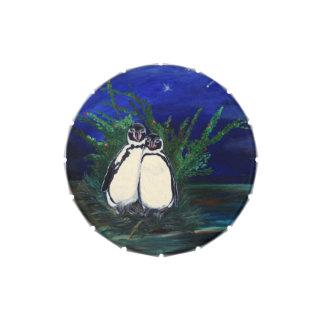 Penguin Romance - Jelly Bean Tin Candy Tins