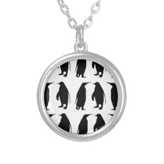 Penguin Round Pendant Necklace