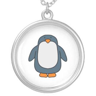 Penguin Round Pendant Necklace