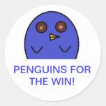 Penguin Round Sticker