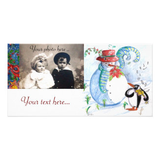 PENGUIN S SERENADE white blue red black Picture Card