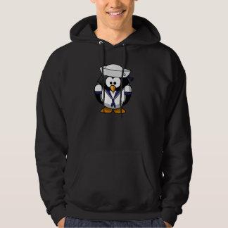 Penguin Sailor Mens Hoodie