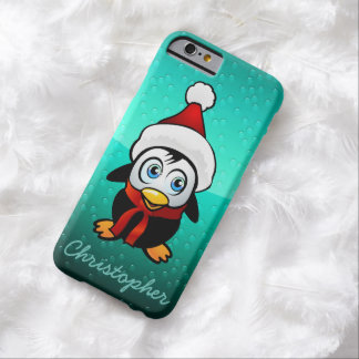 Penguin Santa Claus Barely There iPhone 6 Case