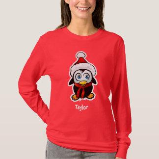 Penguin Santa Claus Cartoon T-Shirt