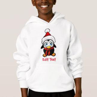 Penguin Santa Claus Hoodie