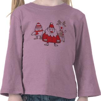 Penguin Santa Reindeer Tee Shirts