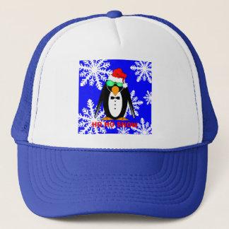 penguin Santa Trucker Hat