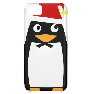 Penguin_santaHat Cover For iPhone 5C
