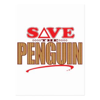 Penguin Save Postcard