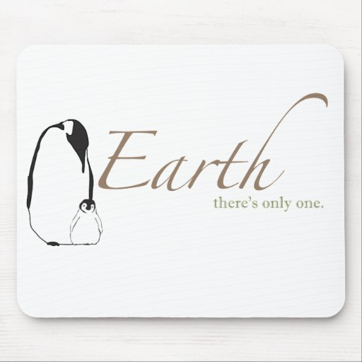 Penguin saves Earth Mouse Pad