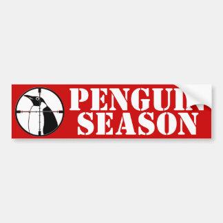Penguin Season Car Bumper Sticker
