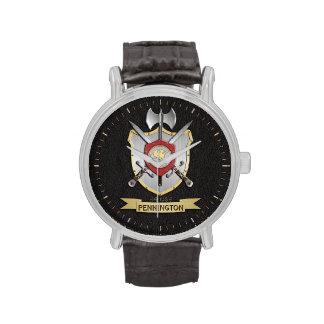 Penguin Sigil Battle Crest Surname Wristwatches
