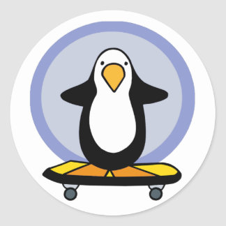 Penguin Skateboarding stickers
