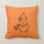 Penguin Sketch Throw Pillows