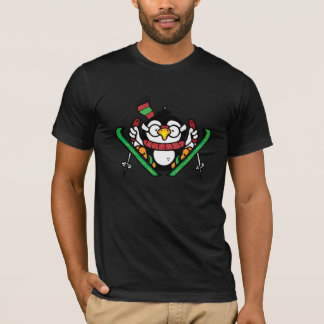 Penguin Ski Jumping Mens T-Shirt
