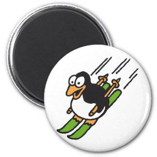 penguin ski magnet