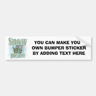 Penguin Ski Snow Please T-shirts and Gifts Bumper Sticker