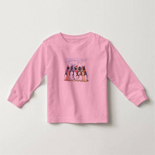 Penguin Ski Team Toddler T-shirt