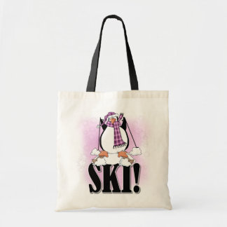 Penguin Ski Tshirts and Gifts Tote Bags