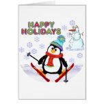 Penguin Skier Cards